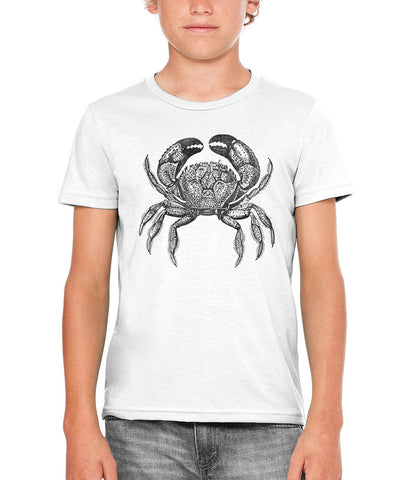Printed In The Usa Austin Ink Apparel Seaside Crab Unisex Kids Short Sleeve Printed T Shirtin Color Berry Pink Size Large