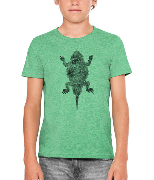 Printed In The Usa Austin Ink Apparel Short Horned Lizard Unisex Kids Short Sleeve Printed T Shirtin Color Triblend Red Size Large