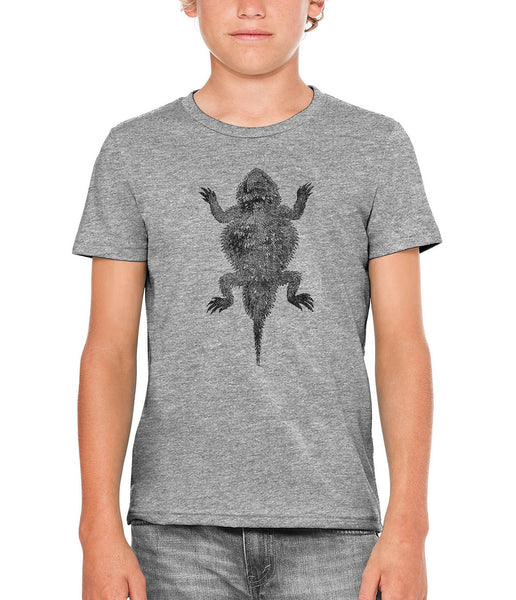 Printed In The Usa Austin Ink Apparel Short Horned Lizard Unisex Kids Short Sleeve Printed T Shirtin Color Red Size Large