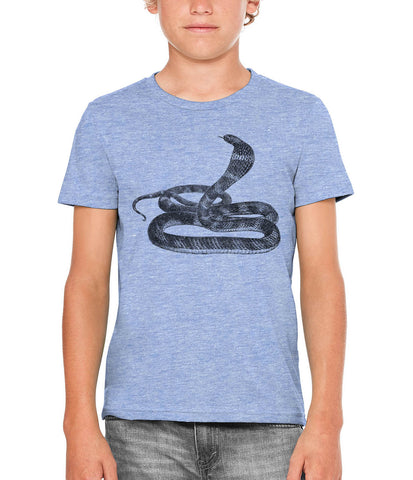 Austin Ink Apparel King Cobra Unisex Kids Short Sleeve Printed T-Shirt