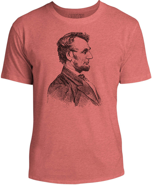 Austin Ink Apparel Abraham Lincoln Unisex Kids Short Sleeve Printed T-Shirt