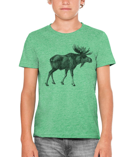 Austin Ink Apparel Alaskan Moose Unisex Kids Short Sleeve Printed T-Shirt