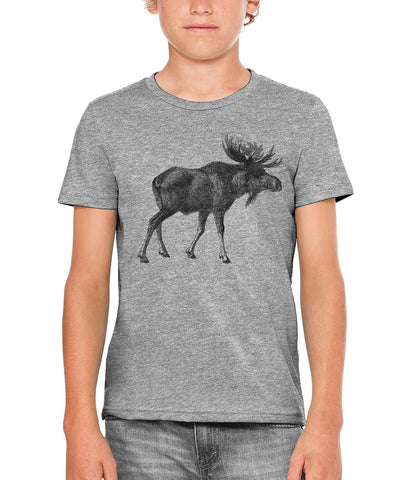 Printed In The Usa Austin Ink Apparel Alaskan Moose Unisex Kids Short Sleeve Printed T Shirtin Color Berry Pink Size Large