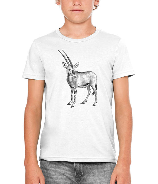 Austin Ink Apparel African Oryx Unisex Kids Short Sleeve Printed T-Shirt