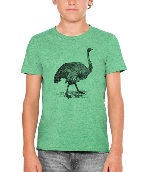 Austin Ink Apparel Australian Emu Unisex Kids Short Sleeve Printed T-Shirt