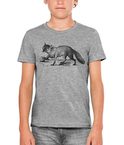 Austin Ink Apparel Sly Fox Unisex Kids Short Sleeve Printed T-Shirt