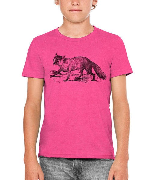 Printed In The Usa Austin Ink Apparel Sly Fox Unisex Kids Short Sleeve Printed T Shirtin Color Heather Grey Size Large
