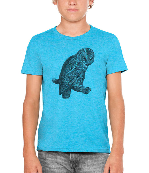 Austin Ink Apparel Angry Tawny Owl Unisex Kids Vintage Printed T-Shirt