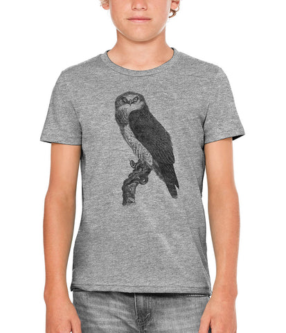 Austin Ink Apparel Snake Hunting Falcon Unisex Kids Vintage Printed T-Shirt