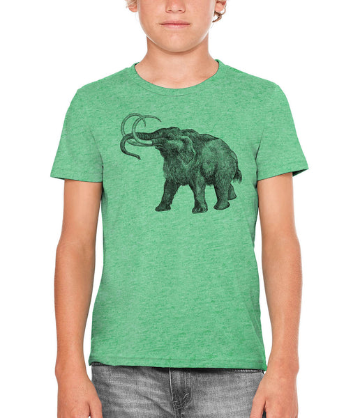 Austin Ink Apparel Ancient Wooly Mammoth Unisex Kids Vintage Printed T-Shirt