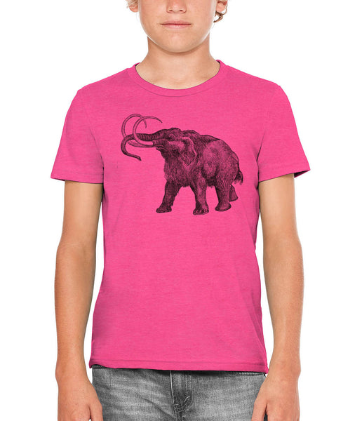 Printed In The Usa Austin Ink Apparel Ancient Wooly Mammoth Unisex Kids Vintage Printed T Shirtin Color Berry Pink Size Large