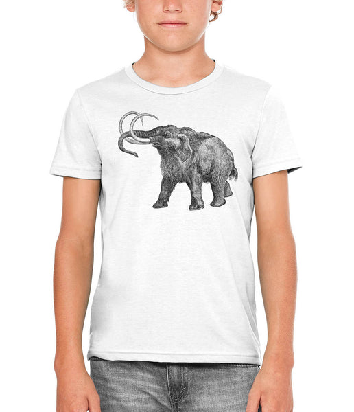 Printed In The Usa Austin Ink Apparel Ancient Wooly Mammoth Unisex Kids Vintage Printed T Shirtin Color White Size Large