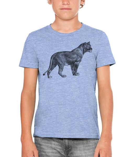 Austin Ink Apparel African Proud Lioness Unisex Kids Vintage Printed T-Shirt