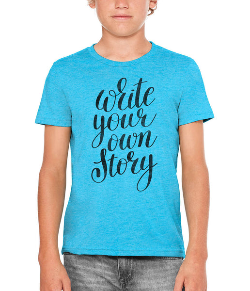 Printed In The Usa Austin Ink Apparel Write Your Own Story Unisex Kids Vintage Printed T Shirtin Color Red Size Large