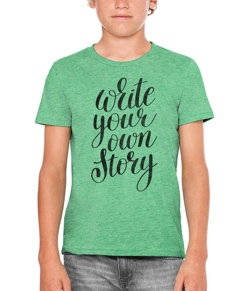 Printed In The Usa Austin Ink Apparel Write Your Own Story Unisex Kids Vintage Printed T Shirtin Color Berry Pink Size Large