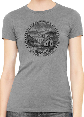 Austin Ink Seal Of Nevada Womens Slim Short Sleeve Cotton T-Shirt