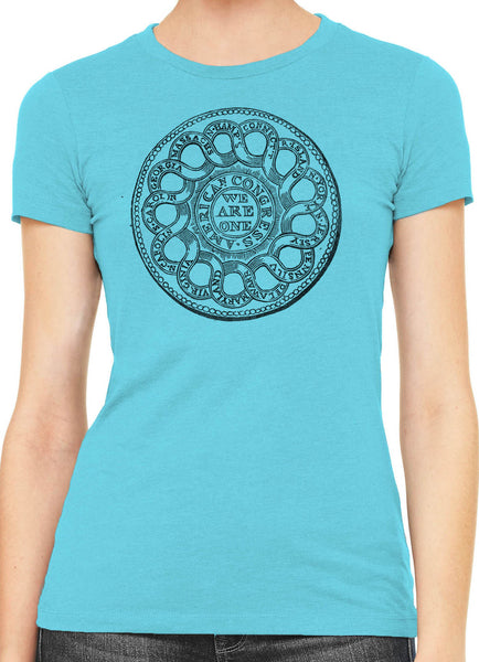 Austin Ink American Congress Seal Womens Slim Short Sleeve Cotton T-Shirt
