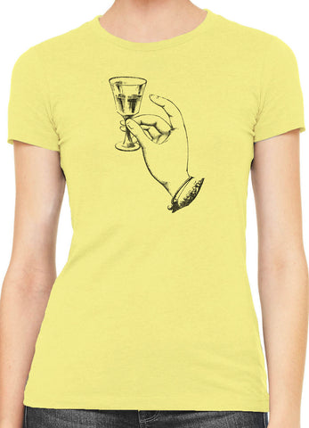 Austin Ink French Aperitif Womens Slim Short Sleeve Cotton T-Shirt