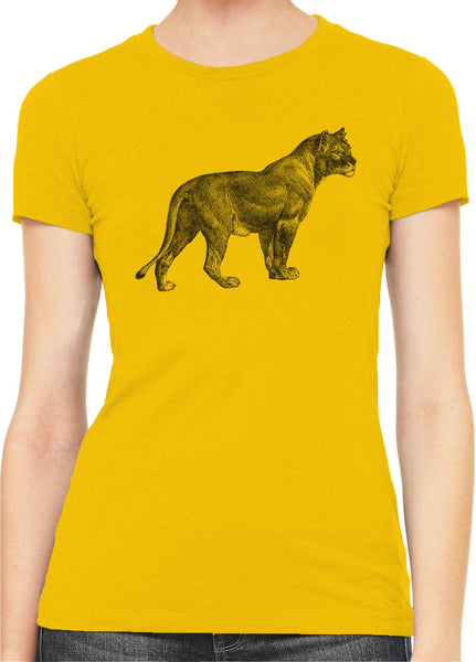 Austin Ink Apparel African Proud Lioness Womens Slim Short Sleeve T-Shirt