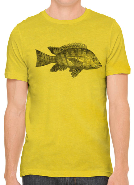 Austin Ink Apparel Atlantic Fish Short Sleeve Cotton Mens T-Shirt