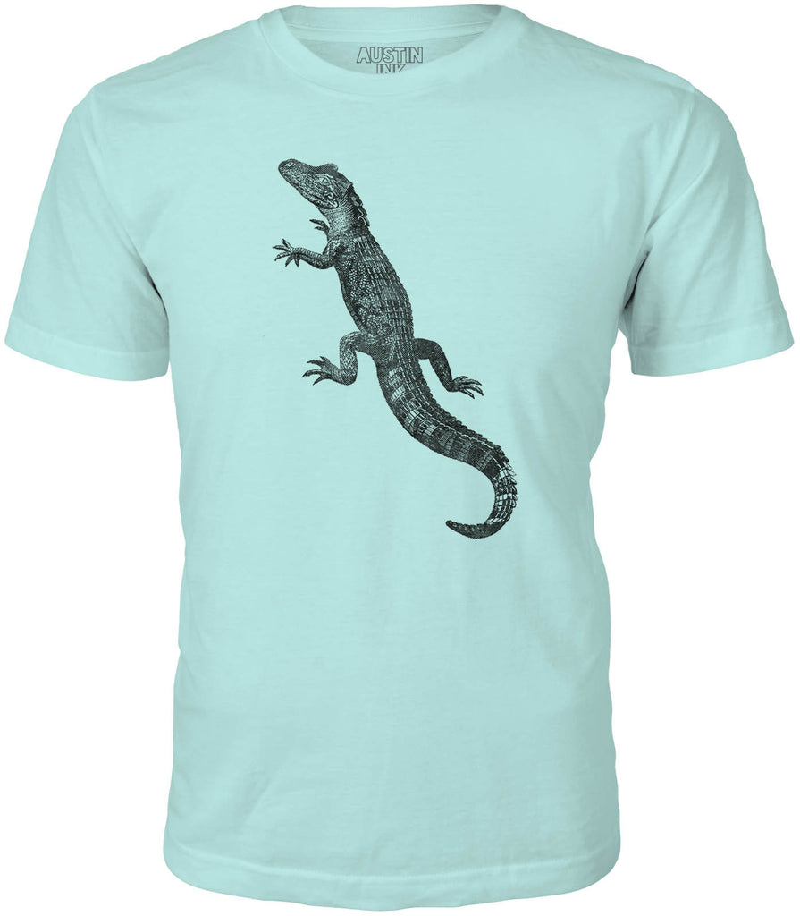 Austin Ink American Alligator Short Sleeve Cotton Mens T-Shirt