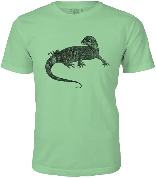 Austin Ink African Monitor Lizard Short Sleeve Cotton Mens T-Shirt