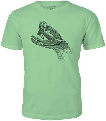 Printed In The Usa Austin Ink Rattlesnake Head Diagram Short Sleeve Cotton Mens T Shirtin Color Aqua Size Extra Small
