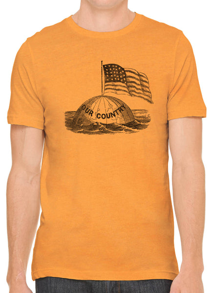 Austin Ink Apparel America on Top of the World Short Sleeve Cotton Mens T-Shirt