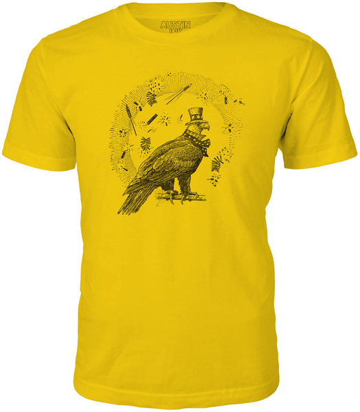Austin Ink 4th of July Eagle Short Sleeve Cotton Mens T-Shirt