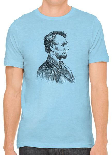 Austin Ink Apparel Abraham Lincoln Short Sleeve Cotton Mens T-Shirt