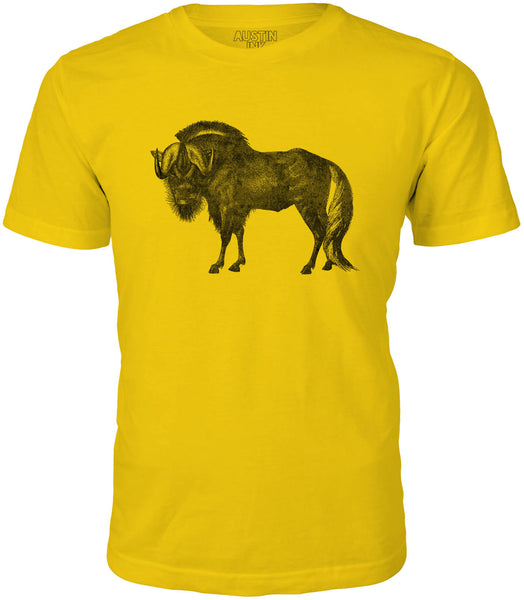 Austin Ink African Wildebeest Short Sleeve Cotton Mens T-Shirt