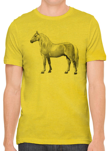 Austin Ink Apparel Albino Horse Short Sleeve Cotton Mens T-Shirt