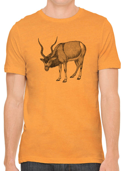 Austin Ink Apparel Antelope Drawing Short Sleeve Cotton Mens T-Shirt