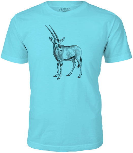 Austin Ink African Oryx Short Sleeve Cotton Mens T-Shirt