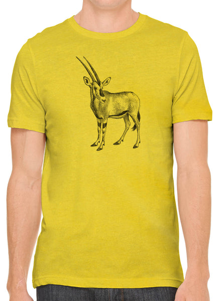 Austin Ink Apparel African Oryx Short Sleeve Cotton Mens T-Shirt
