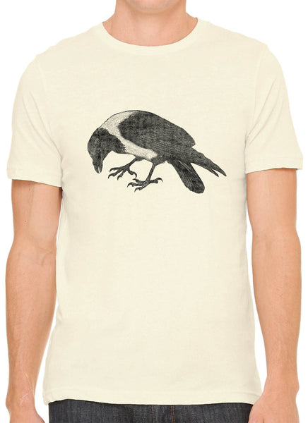 Austin Ink Apparel Australian Magpie Bird Short Sleeve Premium Cotton Fitted Unisex Mens T-Shirt