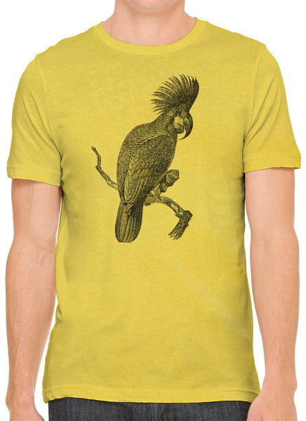 Austin Ink Apparel Australian Cockatoo Sketch Short Sleeve Premium Cotton Fitted Unisex Mens T-Shirt