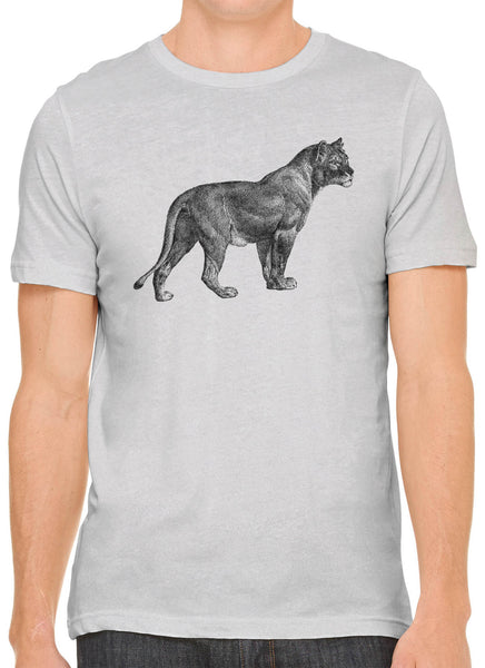 Austin Ink Apparel African Proud Lioness Short Sleeve Premium Cotton Fitted Unisex Mens T-Shirt