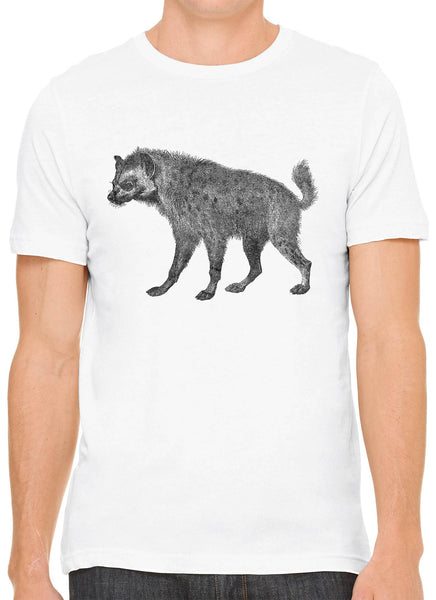 Austin Ink Apparel African Spotted Hyena Short Sleeve Premium Cotton Fitted Unisex Mens T-Shirt