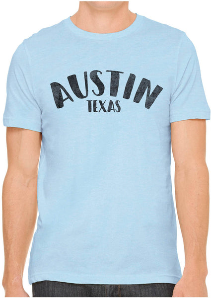 Printed In The Usa Austin Ink Apparel City Of Austin Texas Short Sleeve Cotton Mens T Shirtin Color Aqua Size Extra Extra Large