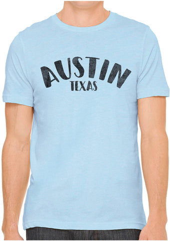 Austin Ink Apparel City of Austin Texas Short Sleeve Cotton Mens T-Shirt