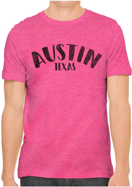 Printed In The Usa Austin Ink Apparel City Of Austin Texas Short Sleeve Cotton Mens T Shirtin Color Baby Blue Size Extra Extra Large