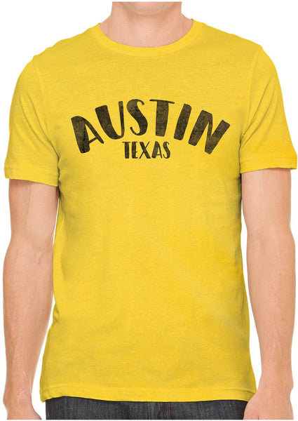 Printed In The Usa Austin Ink Apparel City Of Austin Texas Short Sleeve Cotton Mens T Shirtin Color Cream Size Extra Extra Large