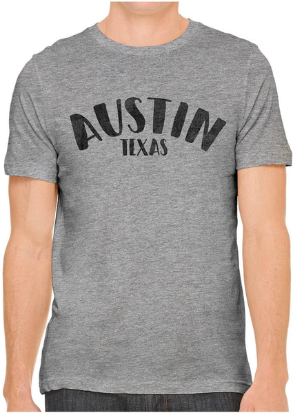 Printed In The Usa Austin Ink Apparel City Of Austin Texas Short Sleeve Cotton Mens T Shirtin Color Gold Size Extra Extra Large
