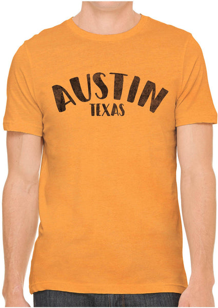 Printed In The Usa Austin Ink Apparel City Of Austin Texas Short Sleeve Cotton Mens T Shirtin Color Ocean Blue Size Extra Extra Large