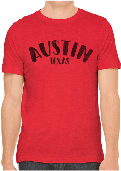 Printed In The Usa Austin Ink Apparel City Of Austin Texas Short Sleeve Cotton Mens T Shirtin Color Orange Size Extra Extra Large