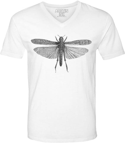 Austin Ink Apparel Winged Locust Unisex Soft Jersey Short Sleeve V-Neck T-Shirt