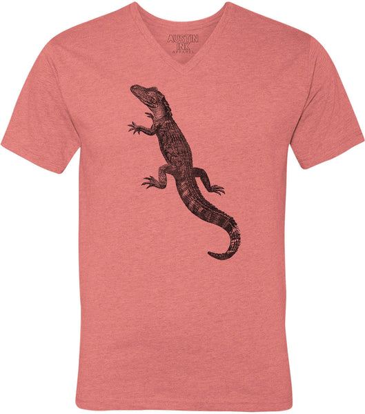 Austin Ink Apparel American Alligator Unisex Soft Jersey Short Sleeve V-Neck T-Shirt