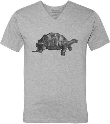 Austin Ink Apparel Walking Tortoise Unisex Soft Jersey Short Sleeve V-Neck T-Shirt