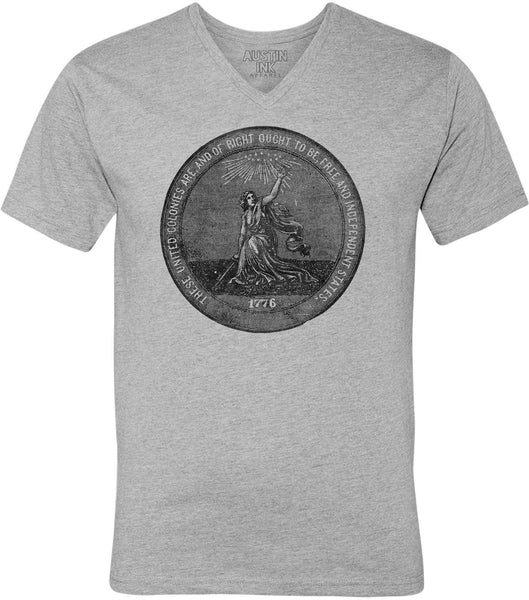 Austin Ink Apparel 1876 Centennial Exposition Unisex Soft Jersey Short Sleeve V-Neck T-Shirt